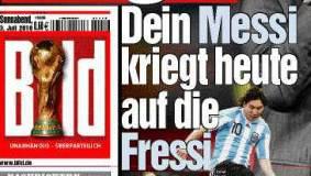 Bildzeitungs-Schlagzeile: Dein Messi kriegt heute auf die Fressi